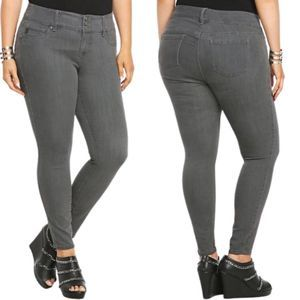 Torrid Three Button Stretch Gray Ankle Jeggins-12R